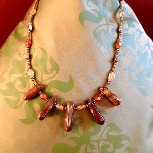 Jewelry - Carnelian and Poppy Jasper necklace
